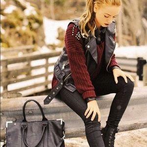 Studded leather vest